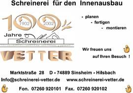 Schreinerei Vetter, Hilsbach